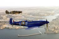 Asisbiz Airworthy Warbird Hawker Hurricane and Spitfire over Malta 01