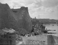 Asisbiz Bomb damage to HMS ST Angelo Grand Harbour Malta after axis raid 7th Apr 1942 IWM A9641