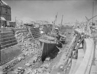 Asisbiz HMS Coral being broken up in Dry Dock no3 Grand Harbour Malta 19 24 Aug 1942 IWM A11484