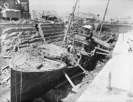 Asisbiz HMS Coral being broken up in Dry Dock no3 Grand Harbour Malta 19 24 Aug 1942 IWM A11485