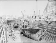 Asisbiz HMS Coral being broken up in Dry Dock no3 Grand Harbour Malta 19 24 Aug 1942 IWM A11486