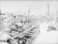 Asisbiz HMS Coral being broken up in Dry Dock no3 Grand Harbour Malta 19 24 Aug 1942 IWM A11488