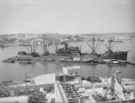 Asisbiz Merchant ship Orari arriving in Grand Harbour Malta 16th Jun 1942 IWM A10406