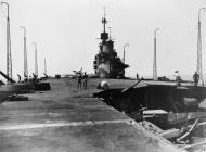 Asisbiz Operation Pedestal bomb damage to HMS Indomitable Aug 1942 IWM A11191
