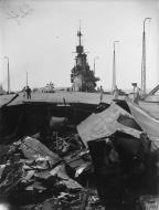 Asisbiz Operation Pedestal bomb damage to HMS Indomitable Aug 1942 IWM A11192