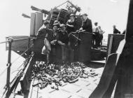 Asisbiz Operation Pedestal crew of a multiple pom pom aboard HMS Manchester Aug 1942 IWM A11180