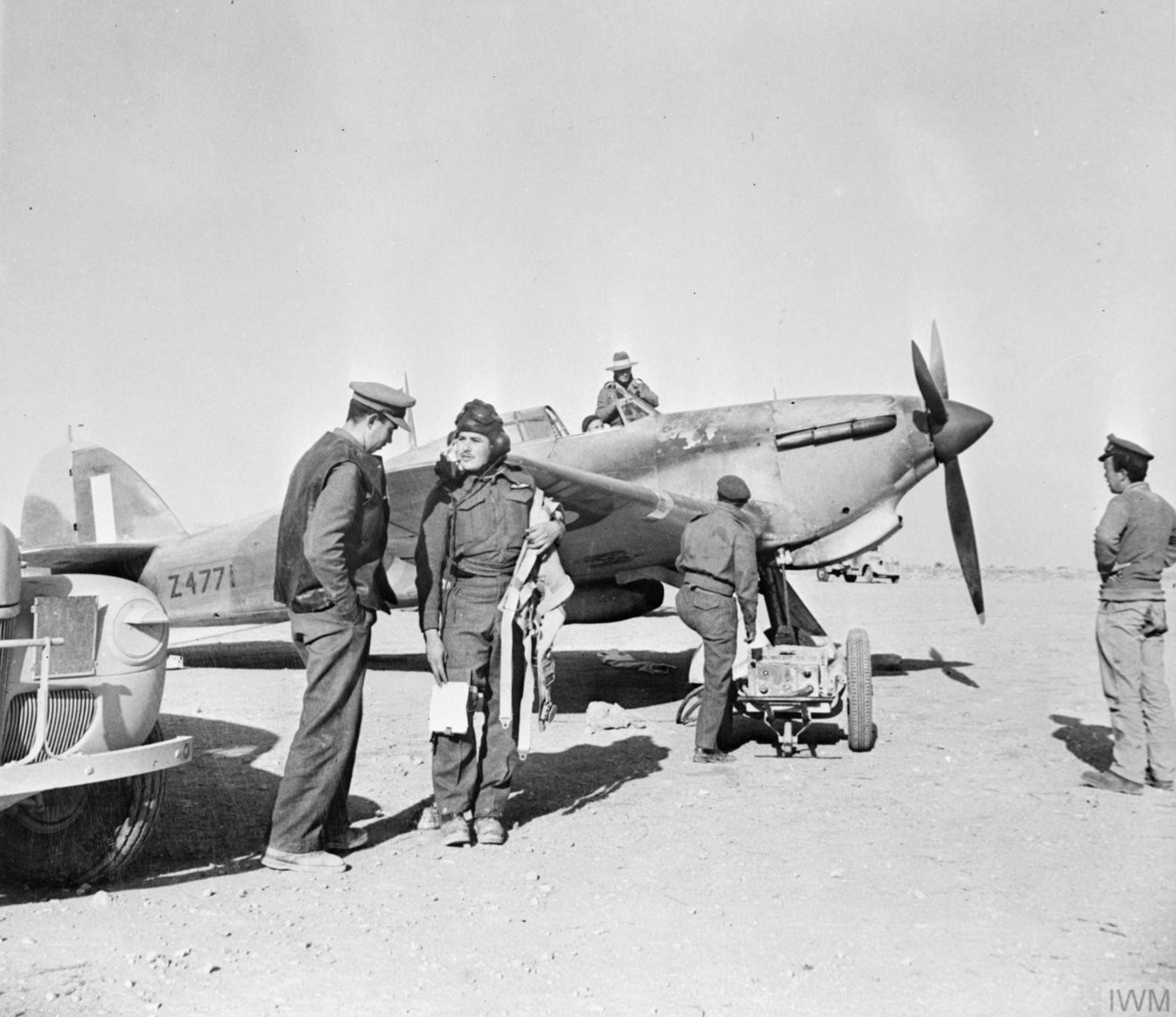 Hurricane I Trop RAAF 451Sqn Sergeant R G Goldberg Z4771 Western Desert IWM CM2206