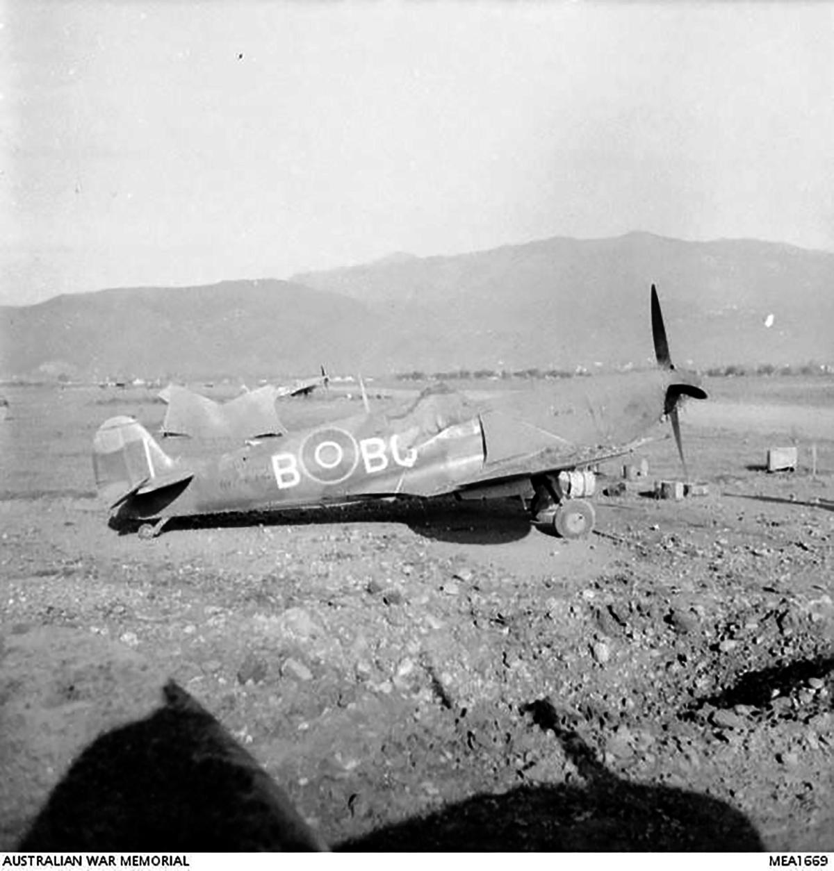 Spitfire IX RAAF 451Sqn BQB Poretta Corsica France 12 May 1944 IWM 01