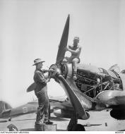 Asisbiz Hurricane IIc Trop RAAF 451Sqn propeller installation Egypt AWM 02