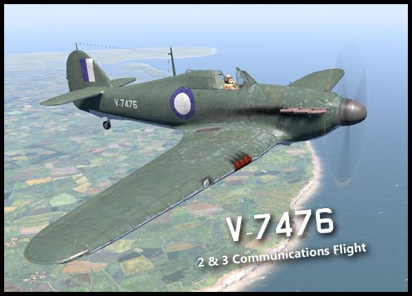 COD B1 Hurricane I RAAF V7476 Communications Australia V0A