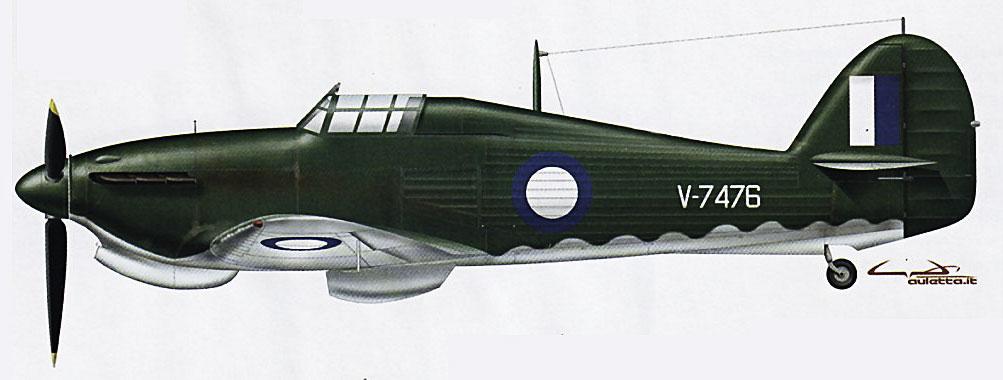 Hurricane I RAAF V7476 Communications Australia 0A