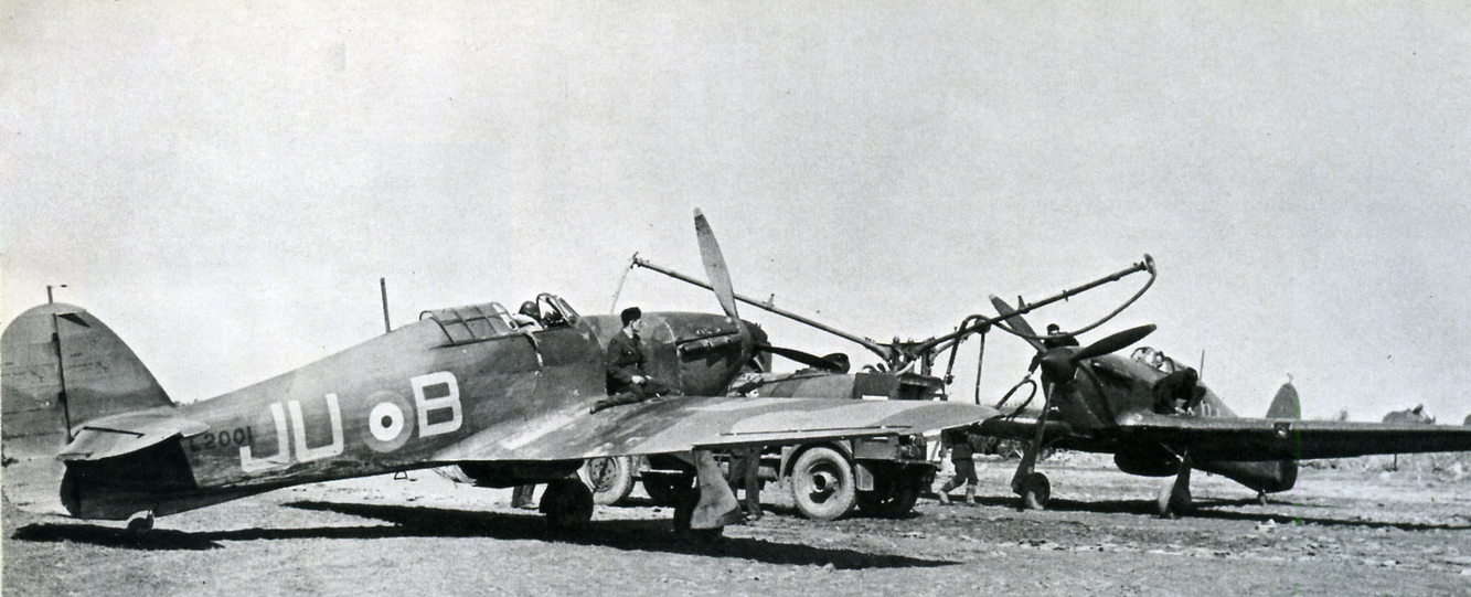 Hawker Hurricane I RAF 111Sqn JUB L2001 France 1940 01
