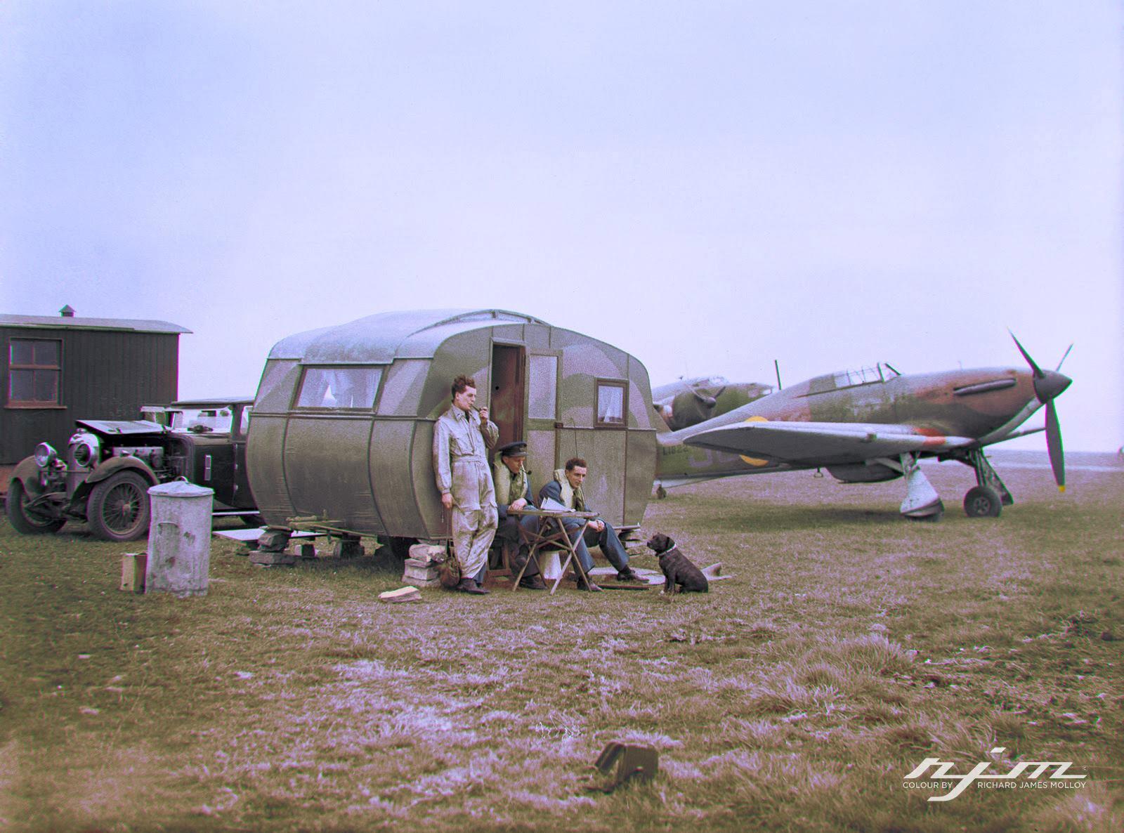 Hurricane I RAF 111Sqn on dispersal at RAF Wick 02