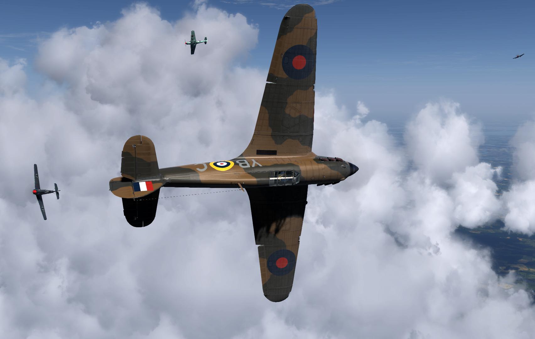 COD Artwork Hurricane I RAF 17Sqn battling with Bf 109s V01
