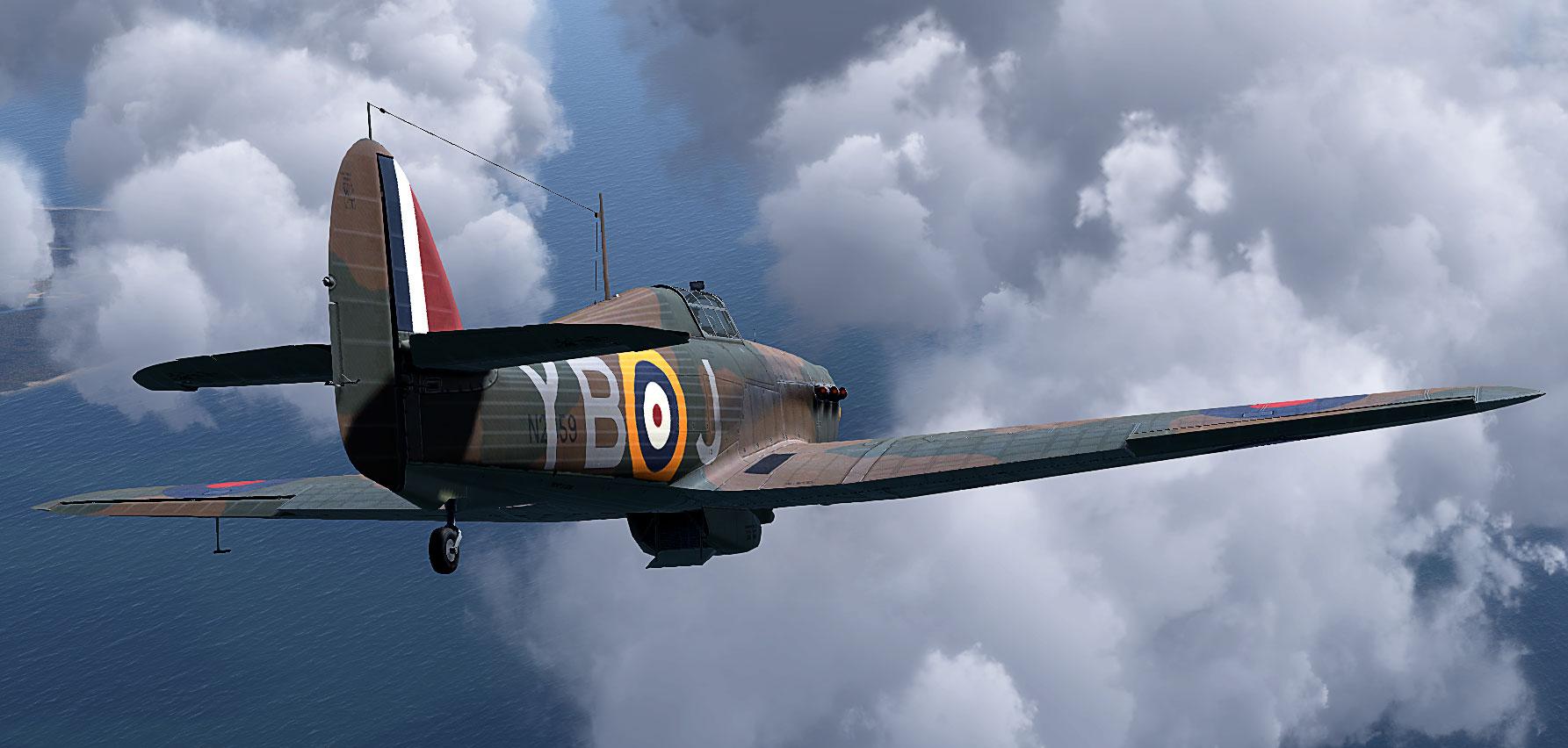 COD KF Hurricane I RAF 17Sqn YBJ N2359 Stevens Debden England 1940 V02