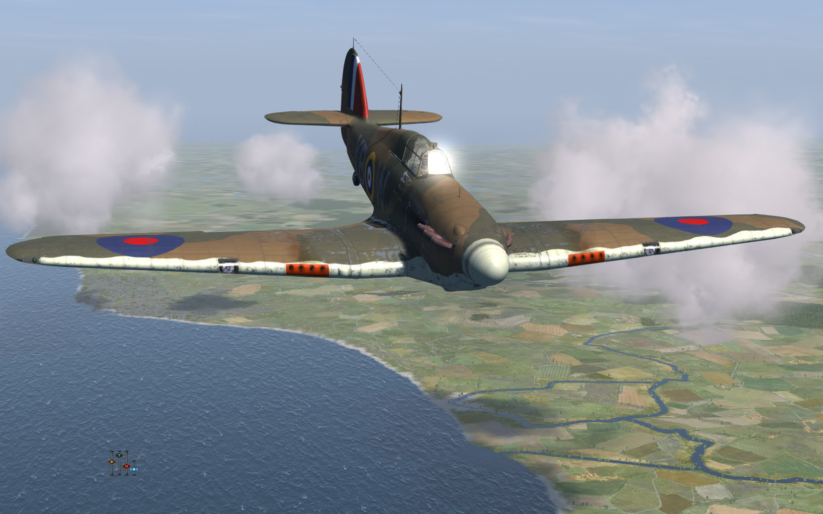 COD KF Hurricane RAF 17Sqn YBW P3878 Bird Wilson Debden England July 1940 V0B