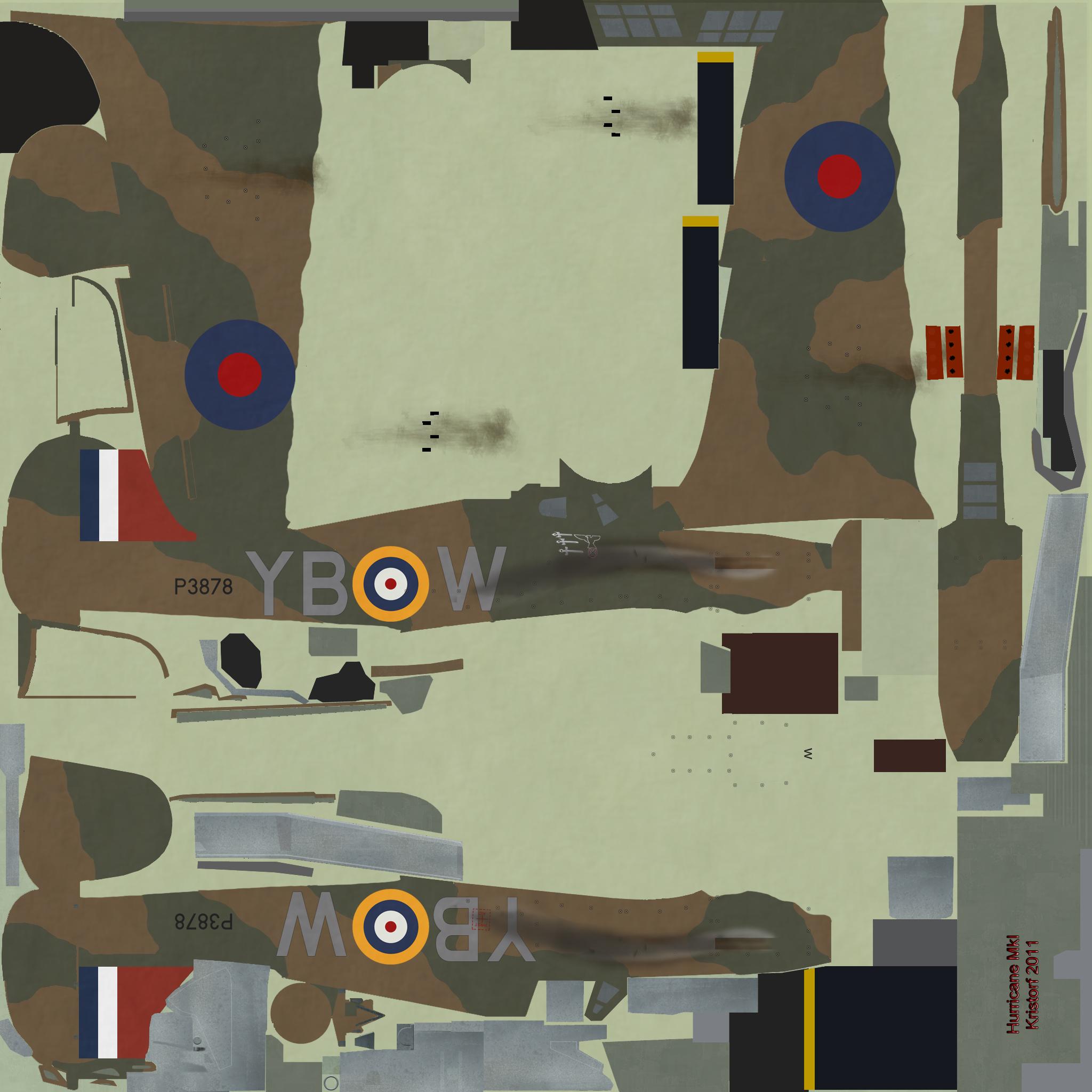 COD KF Hurricane RAF 17Sqn YBW P3878 Bird Wilson Debden England July 1940
