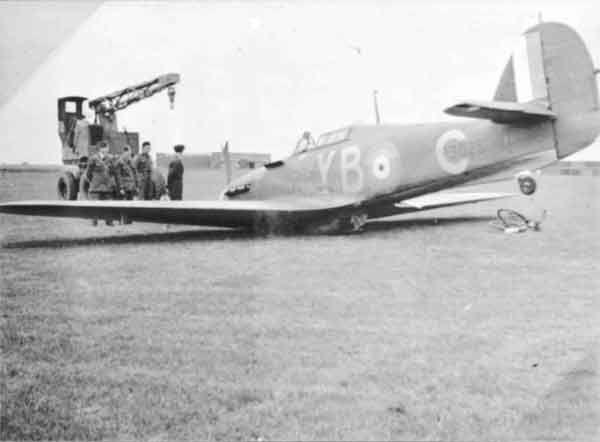 Hawker Hurricane I RAF 17Sqn YBC belly landed 01
