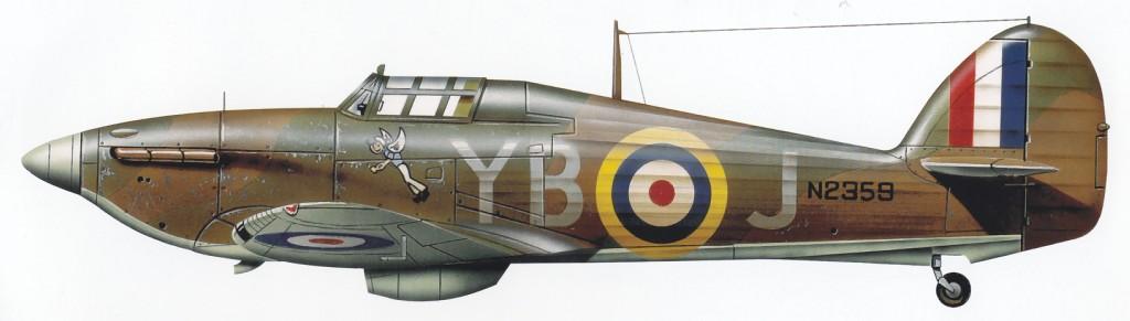 Hawker Hurricane I RAF 17Sqn YBJ N2359 Stevens Debden England 1940 0B