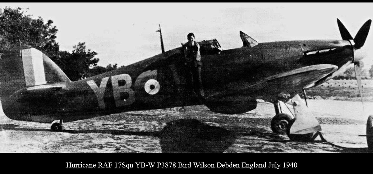 Hawker Hurricane I RAF 17Sqn YBW Bird Wilson P3978 Debdeb England July 1940 02