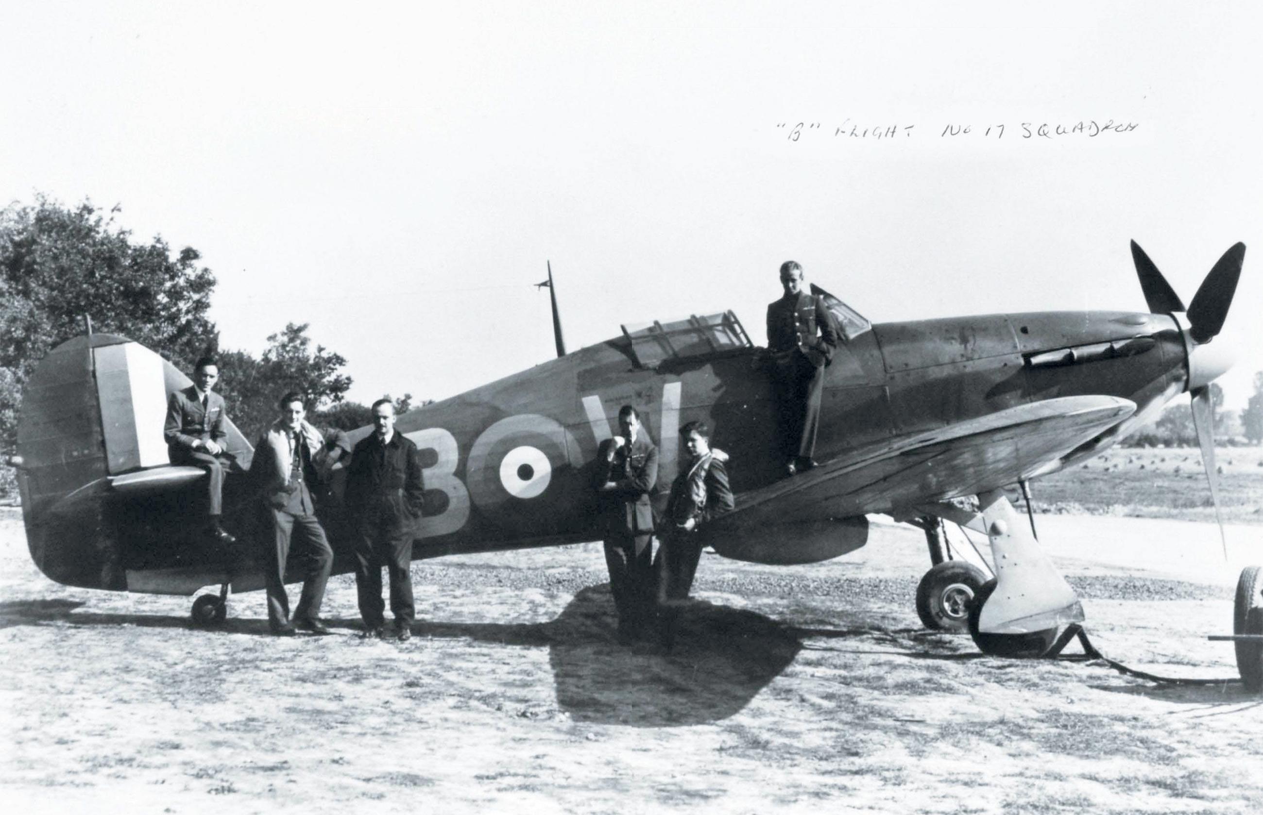 Hawker Hurricane I RAF 17Sqn YBW Bird Wilson P3978 Debdeb England July 1940 03