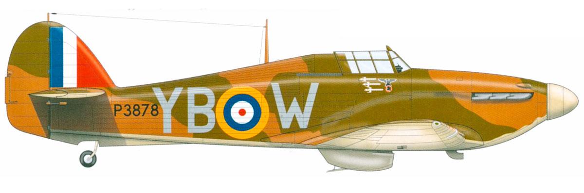Hawker Hurricane I RAF 17Sqn YBW Bird Wilson P3978 Debdeb England July 1940 0A