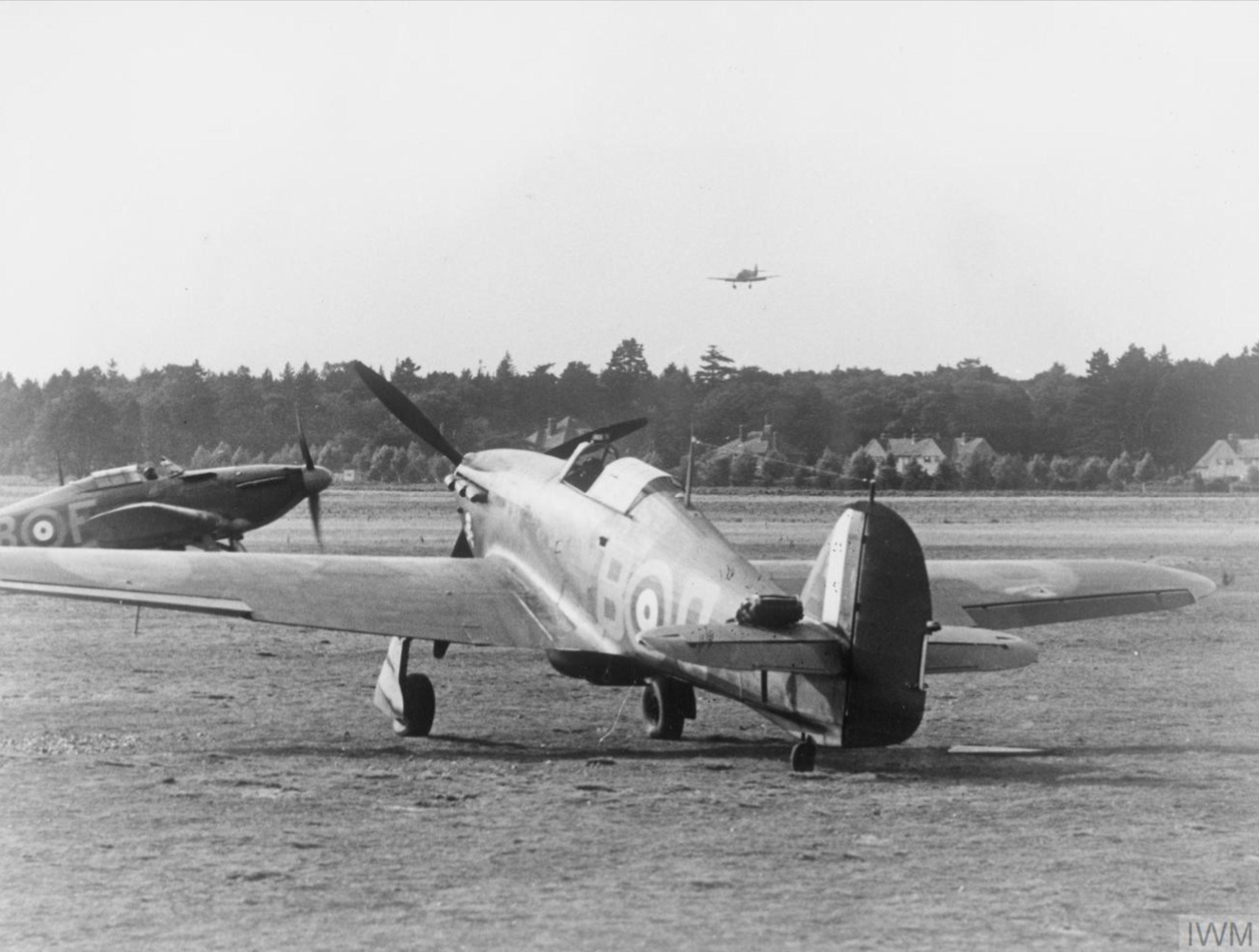 Hawker Hurricane I Trop RAF 17Sqn YBD n YBF at Debden July 1940 IWM HU54414