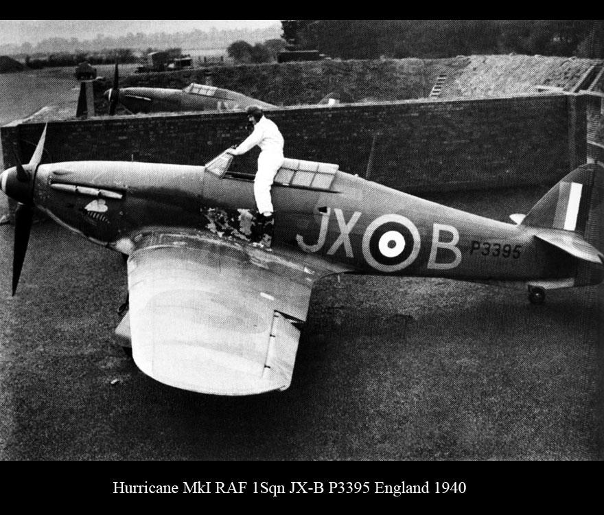 Hawker Hurricane I RAF 1Sqn JXB Arthur V Clowes P3395 England 1940 01