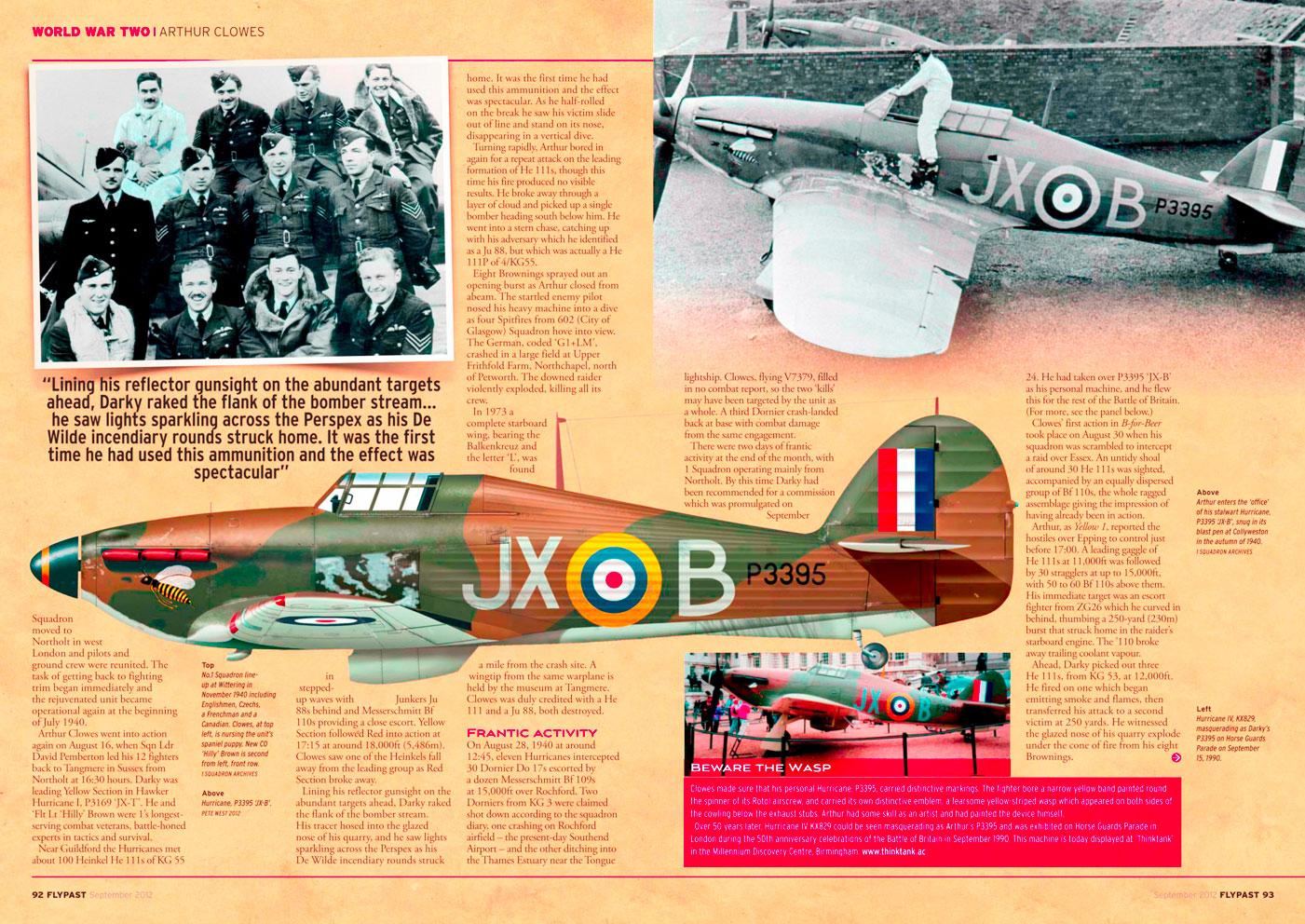 Hawker Hurricane I RAF 1Sqn JXB Arthur V Clowes P3395 England 1940 0A
