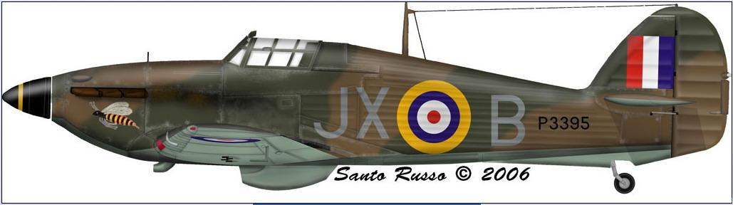 Hawker Hurricane I RAF 1Sqn JXB Arthur V Clowes P3395 England 1940 0C