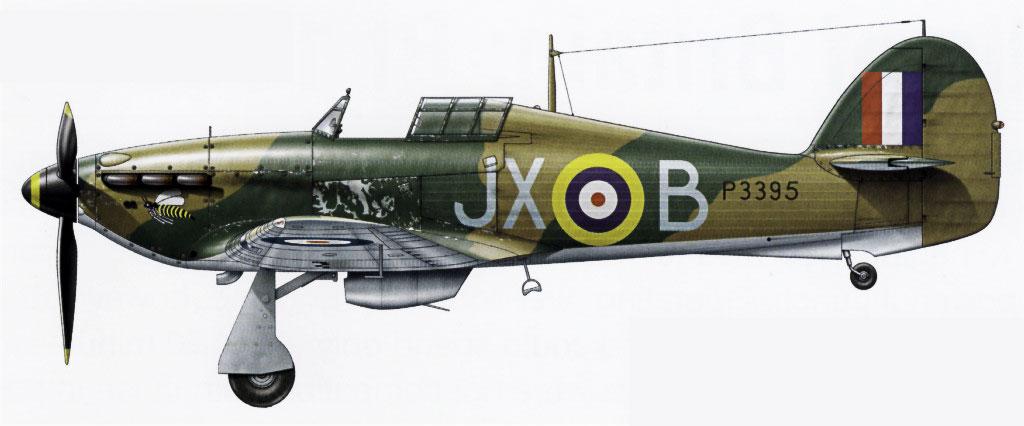 Hawker Hurricane I RAF 1Sqn JXB Arthur V Clowes P3395 England 1940 0D