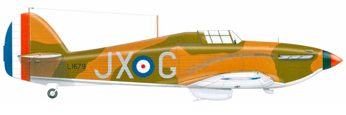 Hawker Hurricane I RAF 1Sqn JXG Paul Richey L1679 Vassincourt France 1940 0A