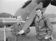 Asisbiz Aircrew RAF 1Sqn MH Brown and Chatham at Wittering Huntingdonshire 1940 IWM CH1566