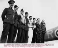 Asisbiz Hawker Hurricane IIb RAF 1Sqn JXR V7377 Jean Demozay group photo 10th Nov 1940 01