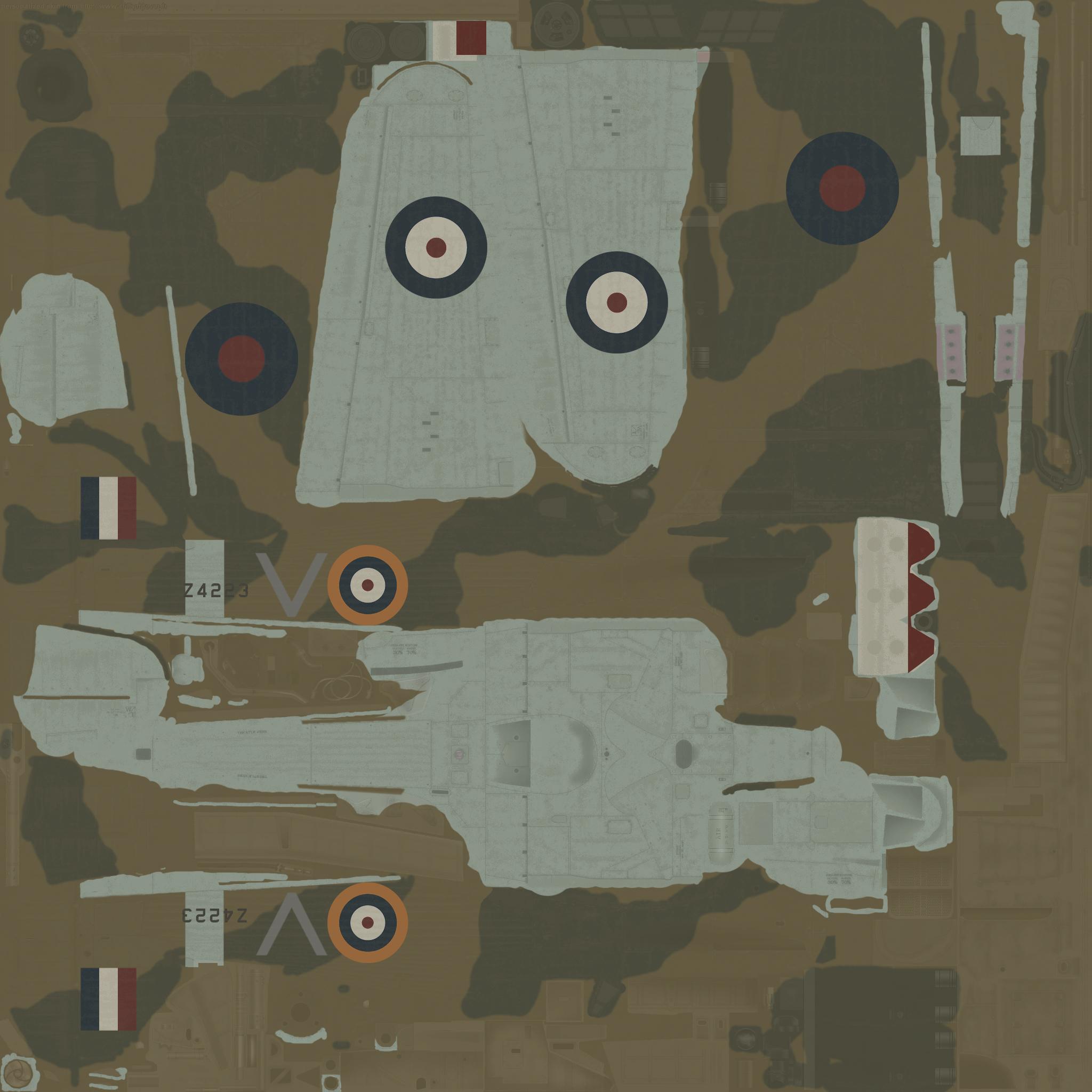 COD MS Hurricane I RAF 213Sqn V George Westlake Z4223 Cyprus 1941