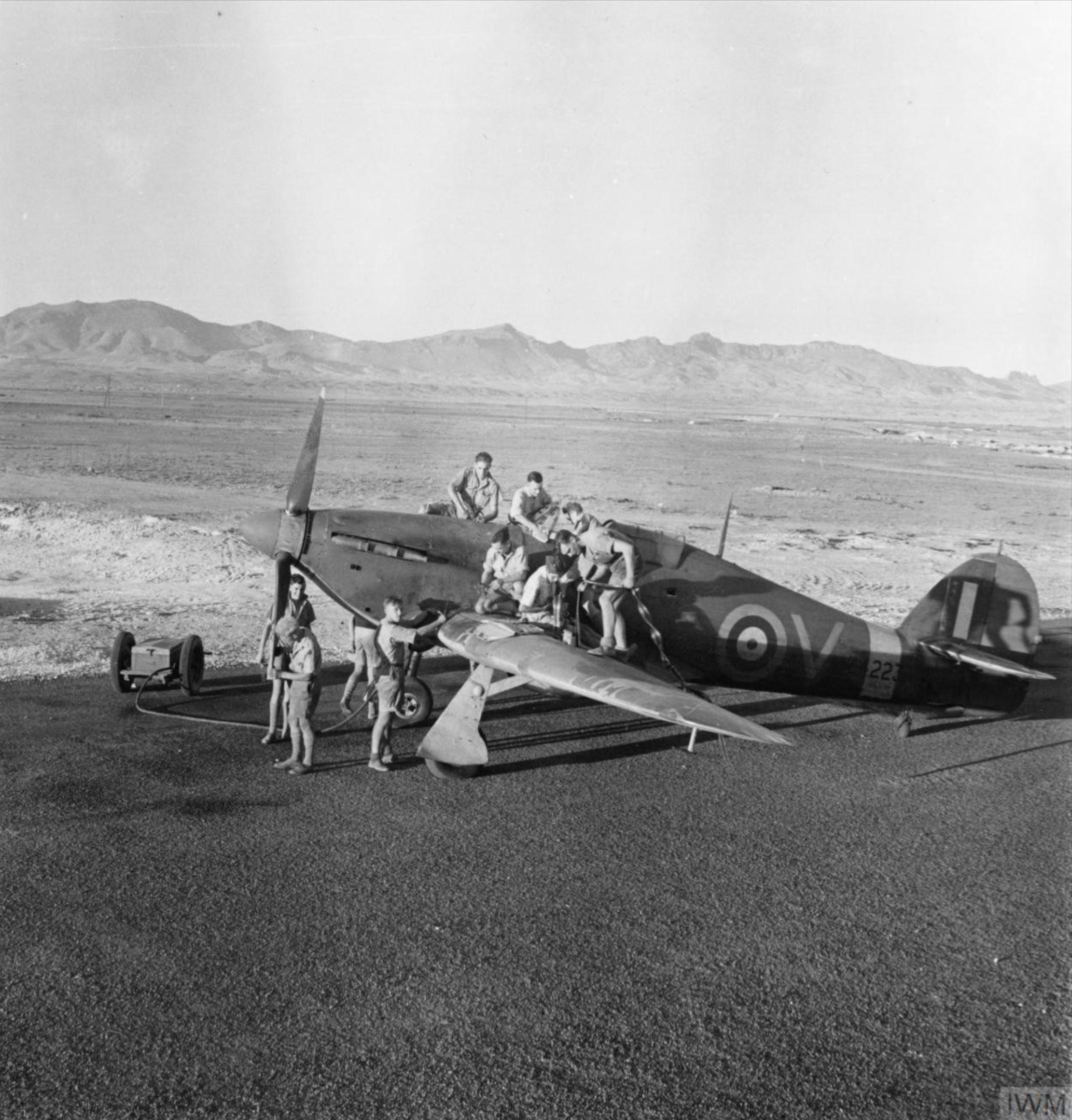Hawker Hurricane I RAF 213Sqn V Z4223 at Famagusta Cyprus IWM MERAF2445