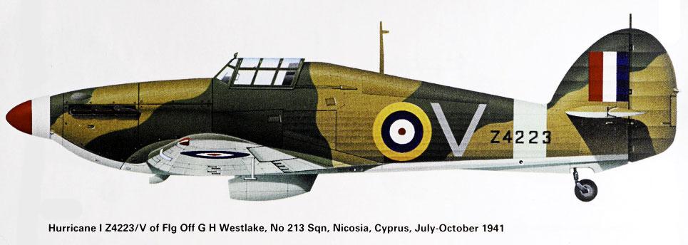 Hurricane I RAF 213Sqn V George Westlake Z4223 Cyprus 18th July 1941 0A