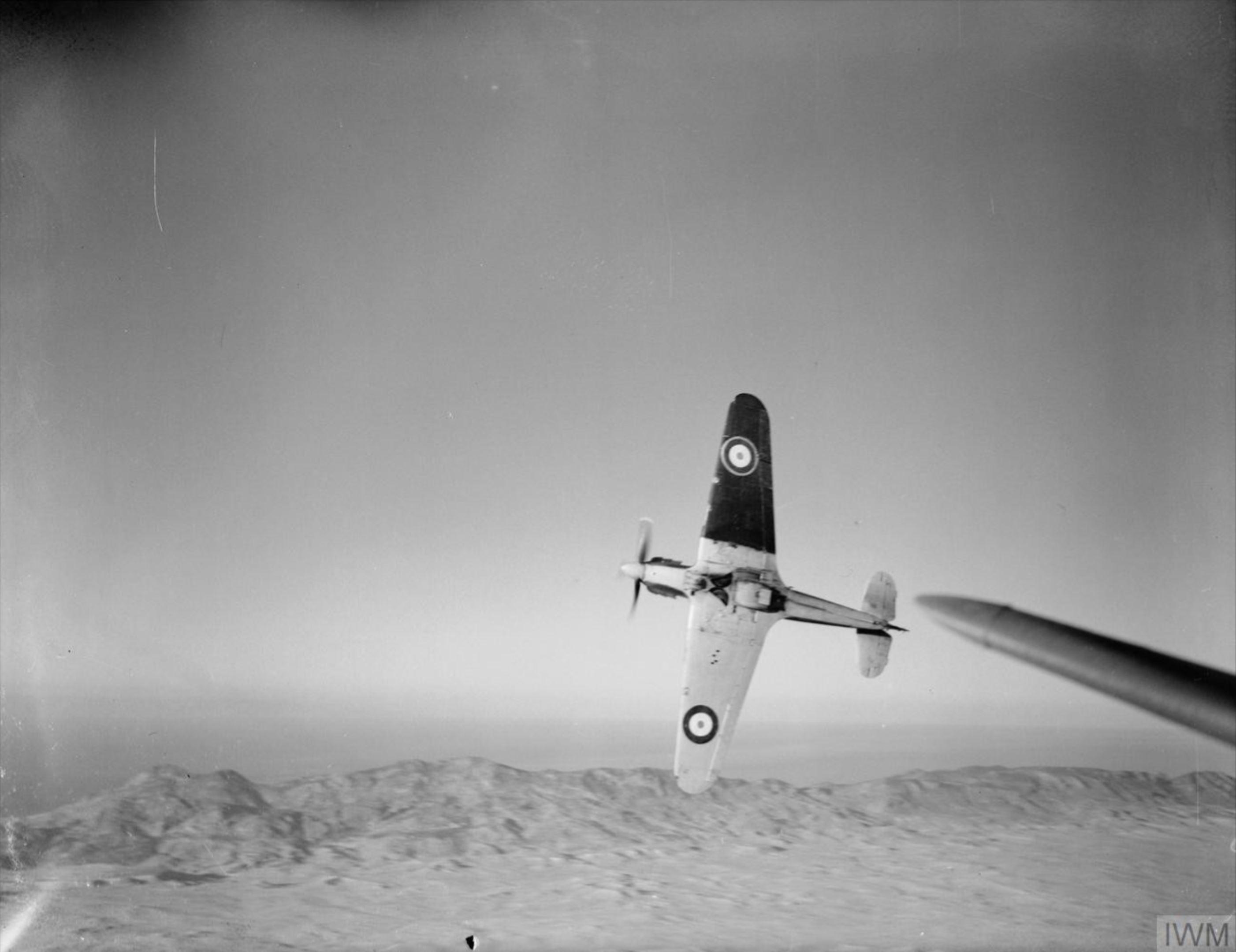 Hurricane I RAF 213Sqn based at Famagusta Cyprus IWM CM1405