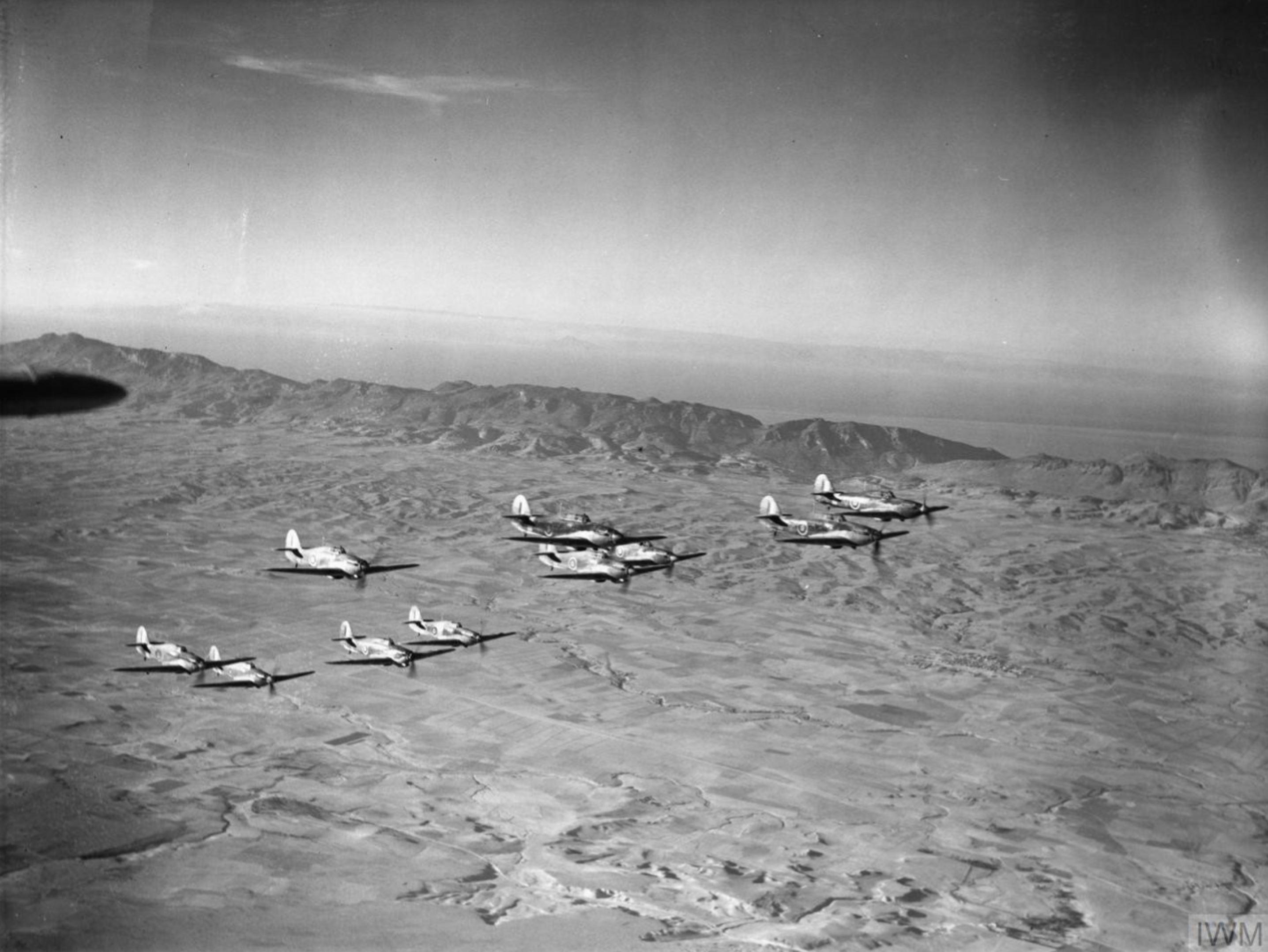 Hurricane I RAF 213Sqn based at Nicosia over Cyprus IWM 2470