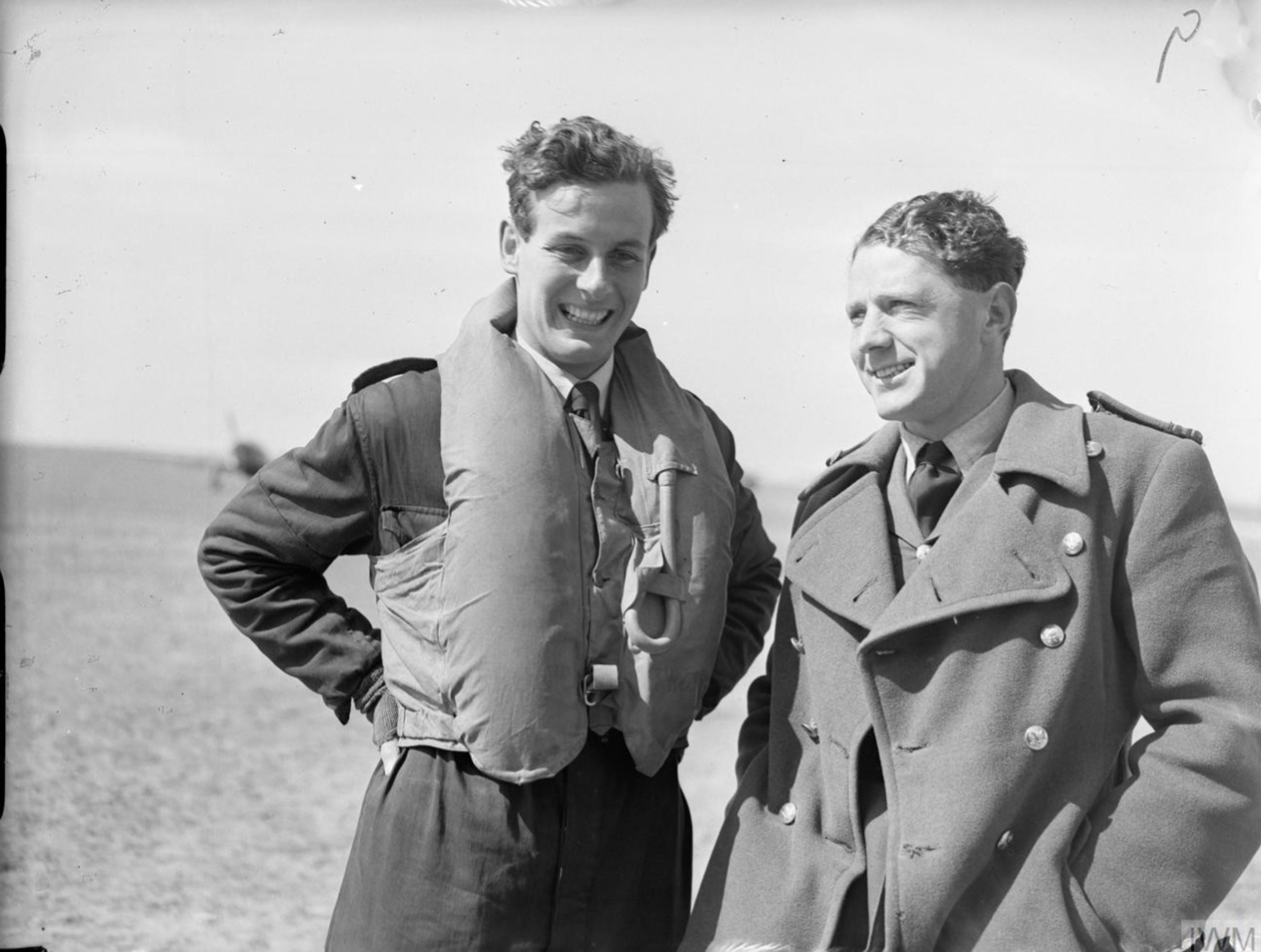 Aircrew RAF 242Sqn pilot PW Townsend and CB Hull at Wick Caithness 1940 IWM CH89