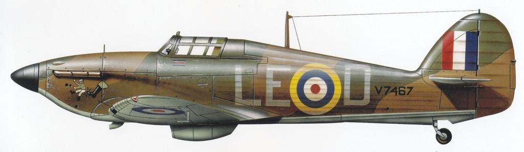 Hawker Hurricane I RAF 242Sqn LED Douglas Bader V7467 Coltishall 1940 0A