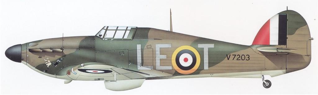 Hawker Hurricane I RAF 242Sqn LET V7203 England 1940 0A