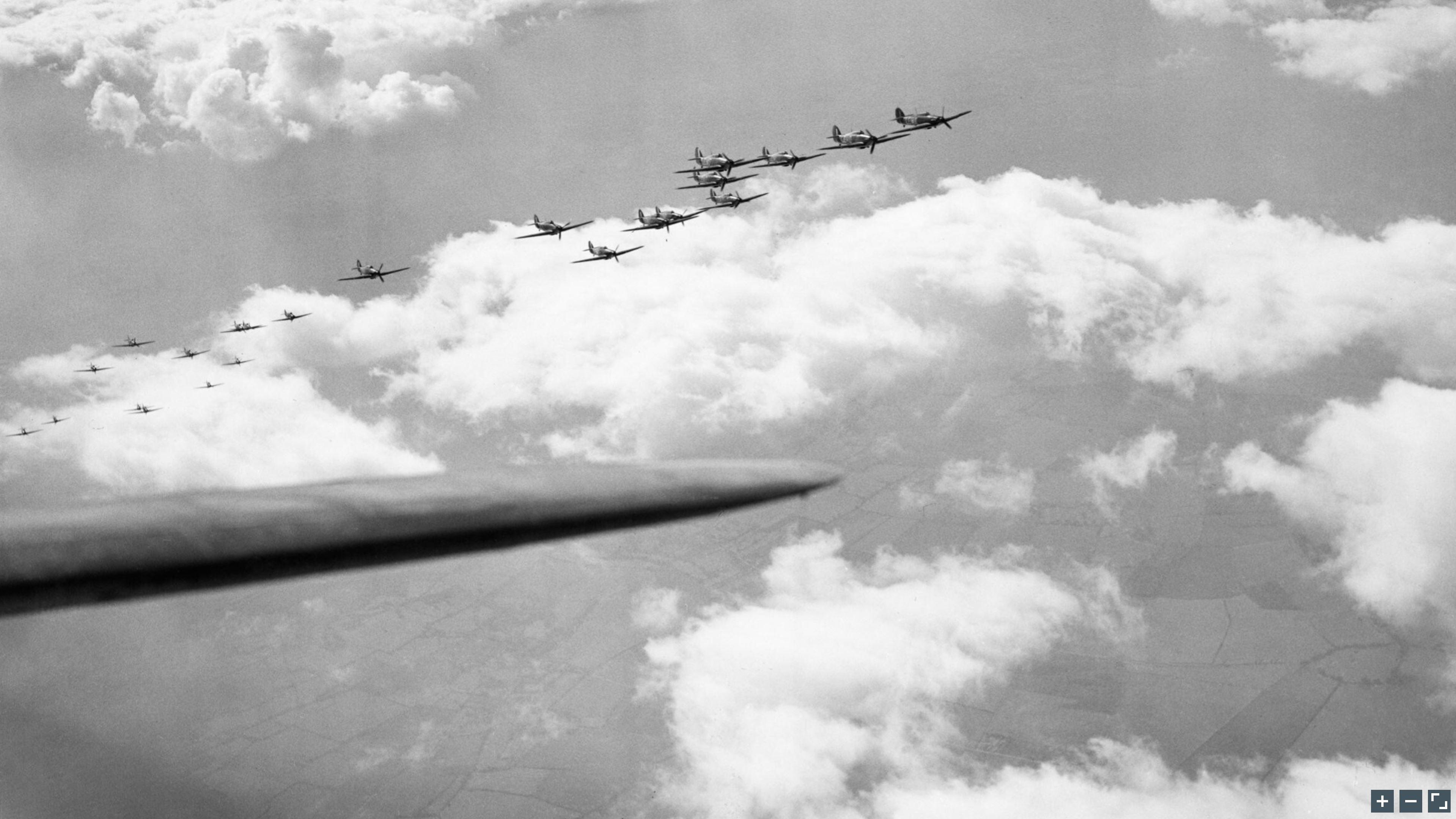 Hawker Hurricane I RAF 242Sqn group formation Oct 1940 IWM CH1429a