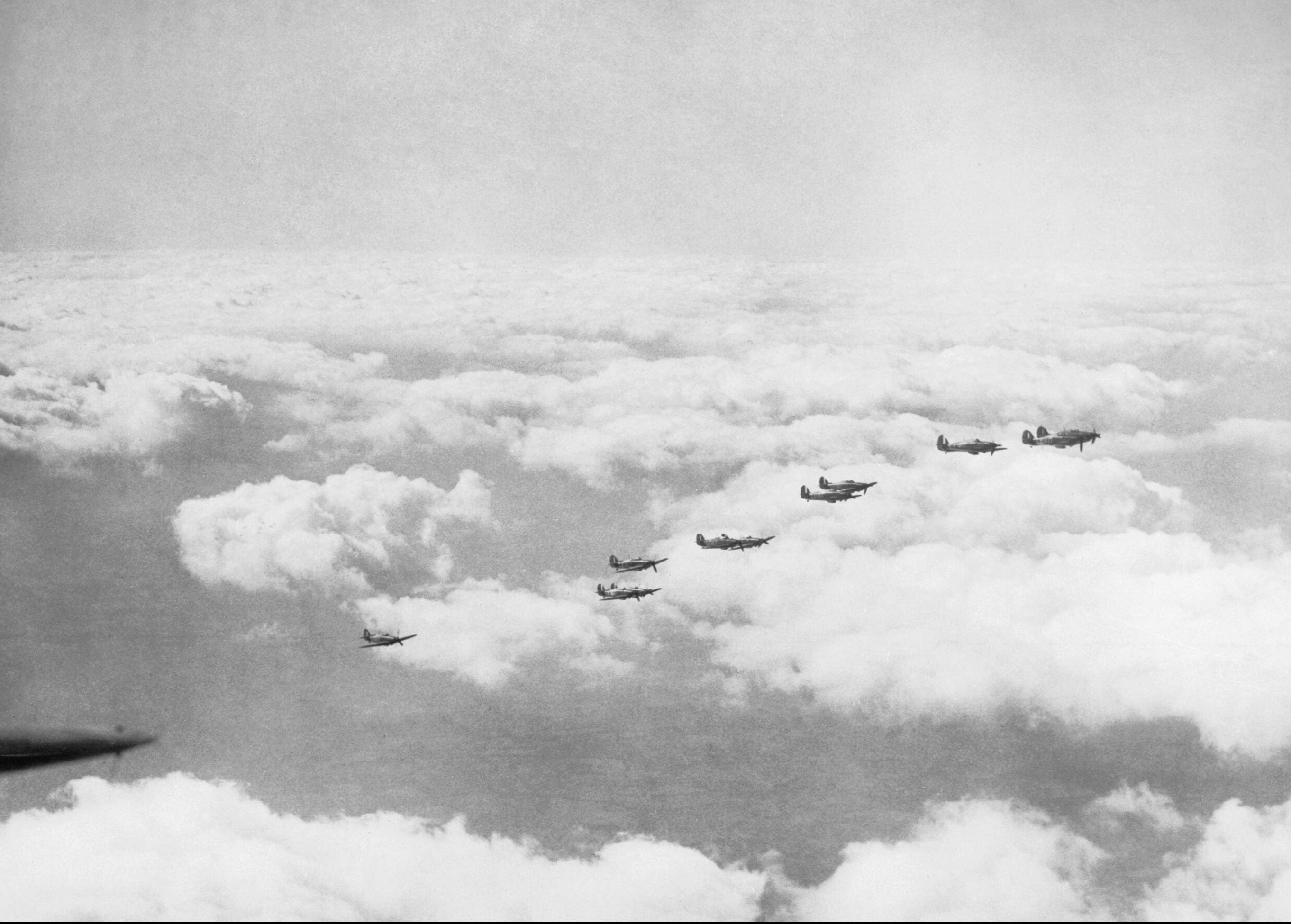 Hawker Hurricane I RAF 242Sqn group formation Oct 1940 IWM CH1431