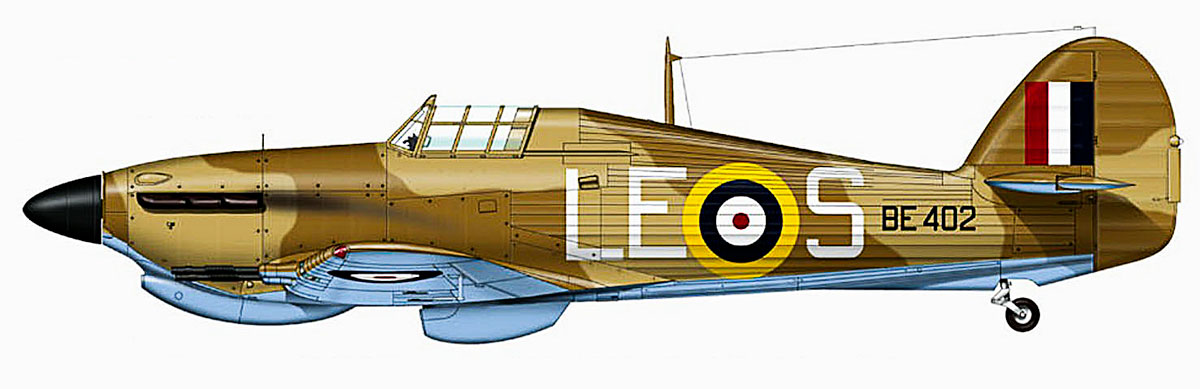 Hawker Hurricane IIc Trop RAF 242Sqn LES BE402 Malta 1942 0A