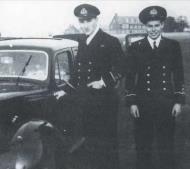 Asisbiz Aircrew RAF 242Sqn RN Sub.Lt DickieCork (L) and Sub.Lt Jimmy Gardner (R) 1940 01
