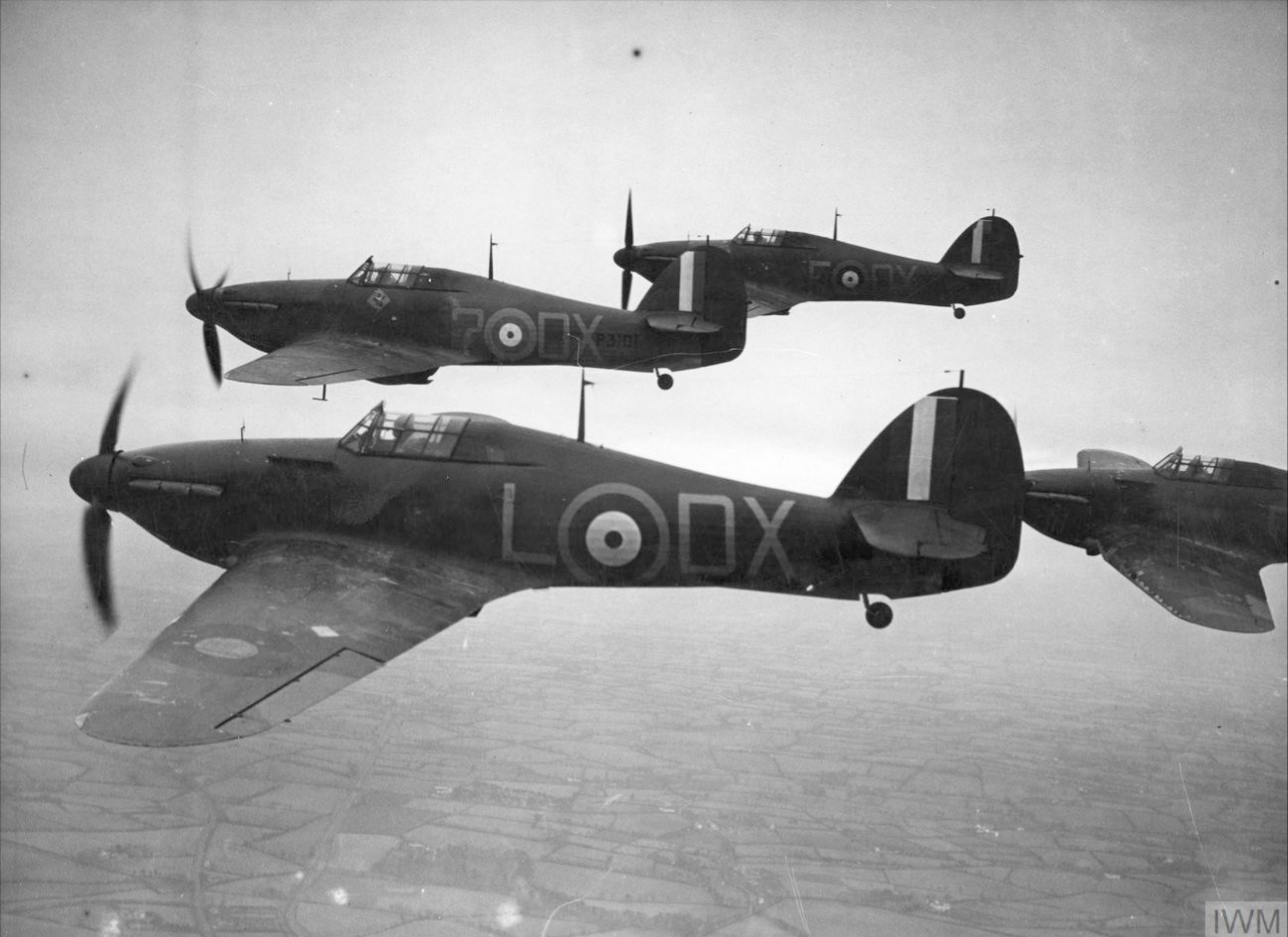 Hawker Hurricane I RAF 245Sqn DX Sqn Ldr J Simpson P3101 nr Belfast Nov 1940 IWM HU104454