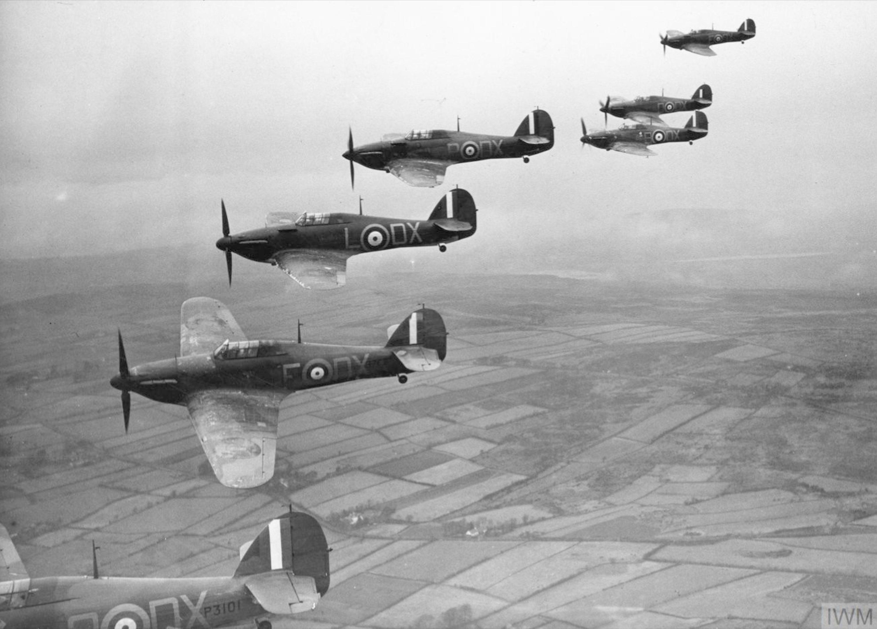 Hawker Hurricane I RAF 245Sqn DXO P3101 nr Belfast Nov 1940 IWM HU104482
