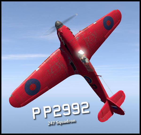 COD B1 Hurricane I RAF 247Sqn P P2992 V0A