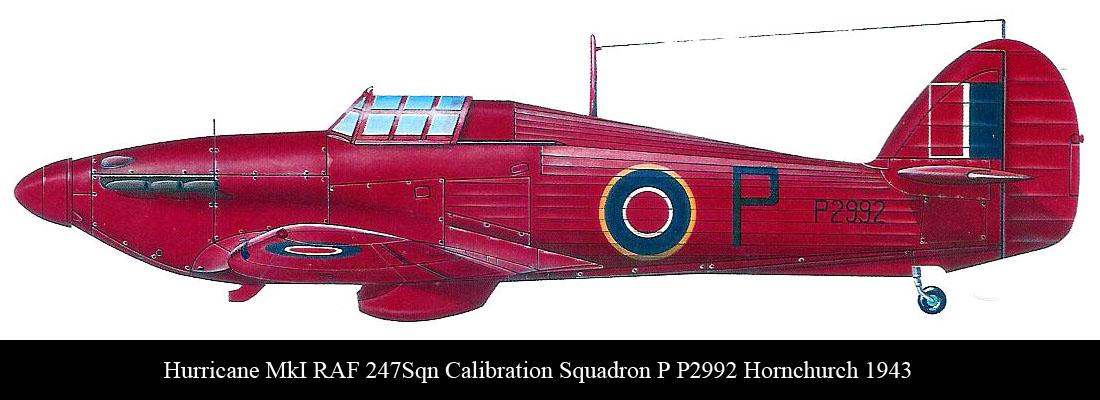Hurricane I RAF 247Sqn Calibration Squadron P P2992 Hornchurch 1943 0A